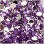 25 Cristales Para Decoración De Uñas Violeta 2mm