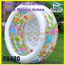 Piscina Inflable Acuario Redonda Piso Acolchado 58480 Intex