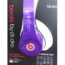 Audifonos Inalambricos Stereo Beats Mp3 Micro Sd Fm