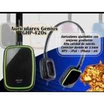Audífono Genius Modelo Ghp-420s Negros Con Verde