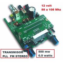 Pll Emisora Transmisor Radio Fm Stereo Kit 0,5 Watt No Yaesu