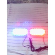 Luces Strobes Policiales Led Azul Y Rojo Tuning Carro Y Moto
