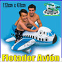 Flotador Inflable Avion Para Niños 56536 Intex Piscina Playa