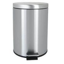 Papelera Cilind 12lts Acero Inox Quality Metal, Prosein
