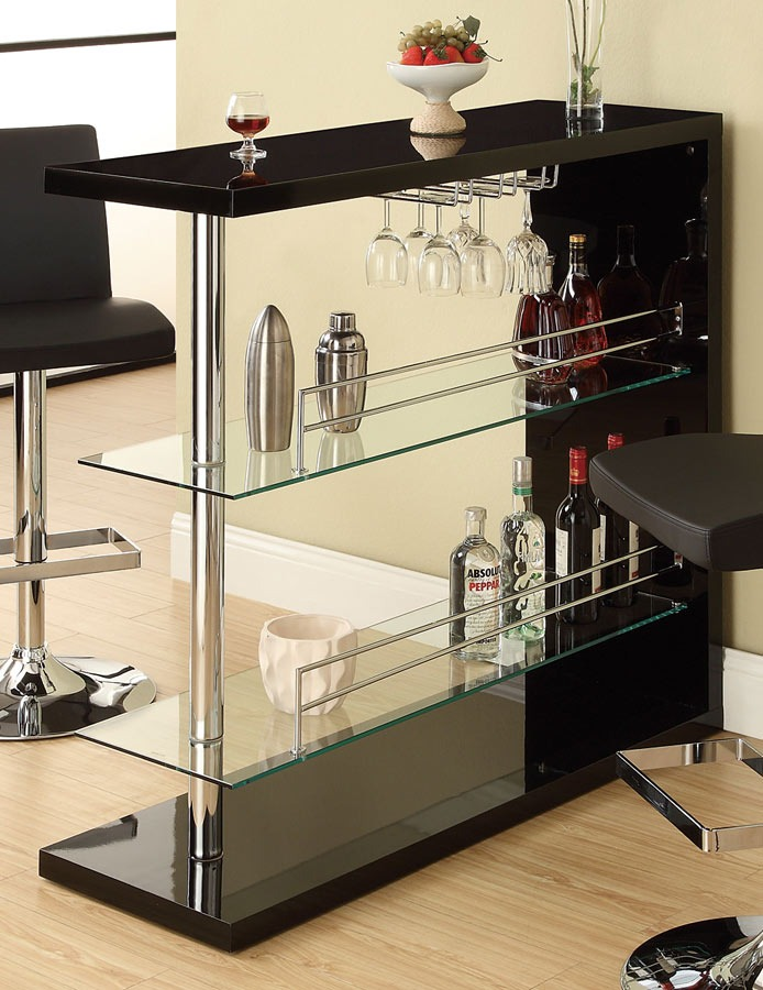 Bar Mesa Coaster Repisa Vidrio 100165 Color Negro  Bs 190000,00 en