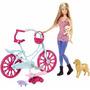 Barbie Bicicleta Y Perritos Nueva Original Mattel Importada