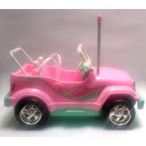 Coleccionable Vehículo Barbie Jeep Rosa Y Verde Sin Control