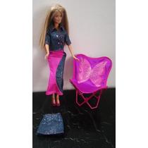 Muñeca Barbie Usada Con Silla Reclinable Buen Estado