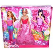 Barbie Vestido De Princesa, Hada Y Sirena De Mattel