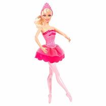 Muñeca Barbie Zapatillas Magicas Rosada Original Mattel