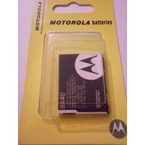 Bateria Motorola Bx40 V8 V9 V9m Z9 Razr2 U9 Zn5 Originales
