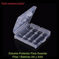 Estuche Protector Para Guardar Pilas/baterías Aa Y Aaa
