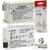 Bateria Canon Lp-e8 Para Camaras Eos Rebel T4i,t3i,t2i Inco
