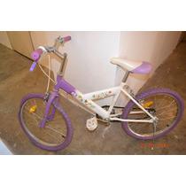 Bicicleta Para Niñas Rin 16 Morada Como Nueva!!!
