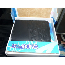 Billetera Billabong Cuero Original Negra Importada Mod9