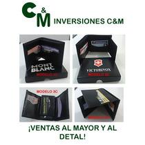 Billeteras Semicuero Caballeros Victorinox//levis//montblanc