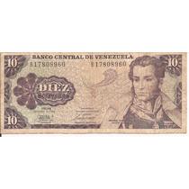 Dos Billetes De 10 Bs. Octubre 6 1981 Conmemorativo.