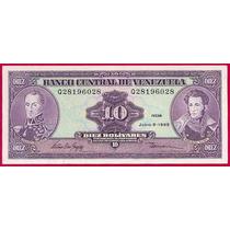 Billete 10 Bolívares Junio 5 De 1995 Serial Q8