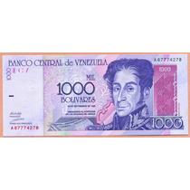 Billete 1.000 Bolivares Septiembre-10-1998 A8 Unc.
