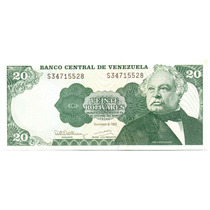 Billete De 20 Bolívares Diciembre De 1992 Serial S8