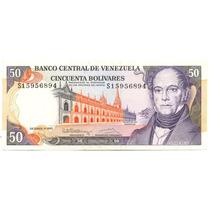 Billete De 50 Bolívares Diciembre 8 De 1992 Serial S8