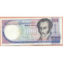 Billete 500 Bolivares Junio-5-1995 Q8 Vf