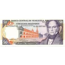 Billete De 50 Bolívares Diciembre 8 De 1992 Serial V8