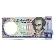 Billete 500 Bolívares Febrero 1998 U8 Au, Casi Sin Circular