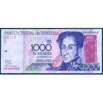 Billete De 1000 Bolívares Septiembre 1998 B8 Sin Circular