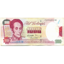 Billete De 1000 Bolívares Junio De 1995 - Serial F9