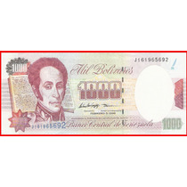 ( Geraval ) Billete De Venezuela Bs. 1000 Febrero 1998 J9