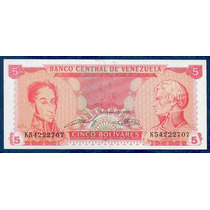 Billete De 5 Bolívares Septiembre 21 1989 K8 Sin Circular