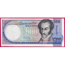 Billete De 500 Bolívares Febrero 1998 V8 Sin Circular
