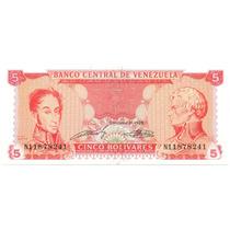 Billete 5 Bolívares Septiembre 21 De 1989 Escaso Serial N8