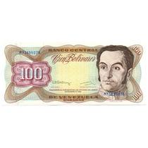 Billete De 100 Bolívares Diciembre 8 De 1992 Serial M8