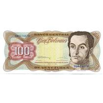 Billete De 100 Bolívares Mayo 12 De 1992 Serial D8