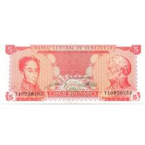 Billete De 5 Bolívares Septiembre 21 De 1989 Buen Serial Y8