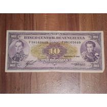 Billete De 10 Bolivares Noviembre-3-1988serial F38162649