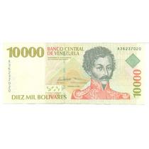 Billete De 10.000 Bs De Febrero 1998 A8 Unc 1ra Emision