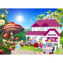 Casa De Ensueño Fairyland Tipo Lego. 714 Piezas Para Armar