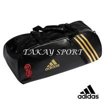 Bolso Morral Convertible Adidas Budo Spirit Negro Con Dorado