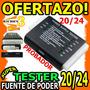 Wow Probador Tester Fuente De Poder 20/24 Pin +24v Hasta -3v