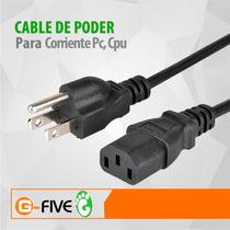 Cable De Poder Corriente Pc Computadora Cpu