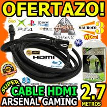 Wow Cable Hdmi 2.7mts Acorazado Arsenal Gaming V1.4 3d Tv
