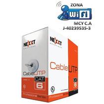 Bobina De Cable Utp Cat6 Nexxt 100% Cobre En Zonawifimcy