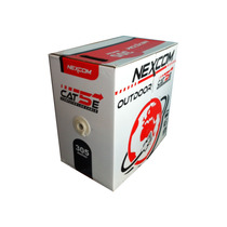 Cable Utp Cat 5e Para Intemperie (outdoor) Marca Nexcom