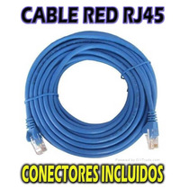 Cable De Red Rj 45 Cat 5e 5, 10 Y 20 Metros