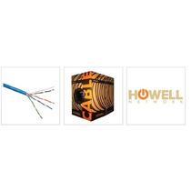 Bobina De Cable Utp Cat 5e 100% Cobre. Marca Howell Network