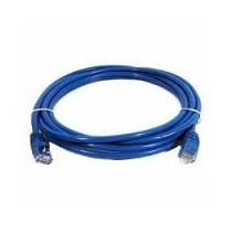 Cable Patch Cord Utp Rj45 3 Mts (10 Feet) Cat 5, Azul Lampro
