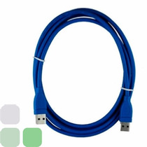 Cable Usb 3.0 1mts Usa-net Am-am Azul Un-usb30